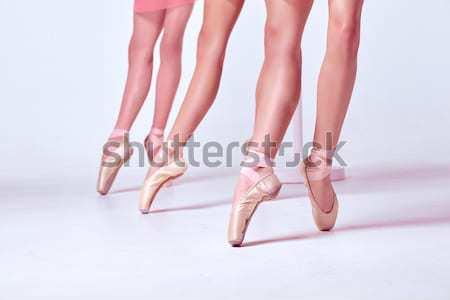 フィート 小さな 靴 クローズアップ 3  白 ストックフォト © master1305