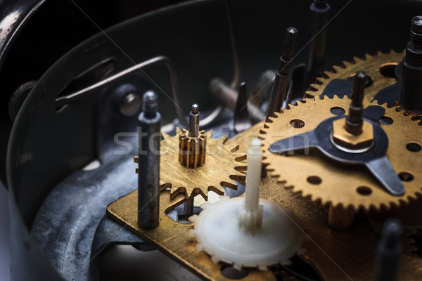 The macro view of clock mechanism Stock photo © master1305