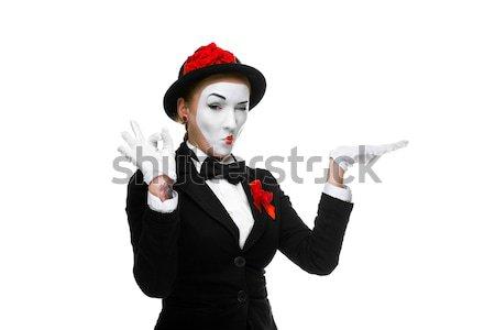 Mujer de negocios imagen diente aislado Foto stock © master1305