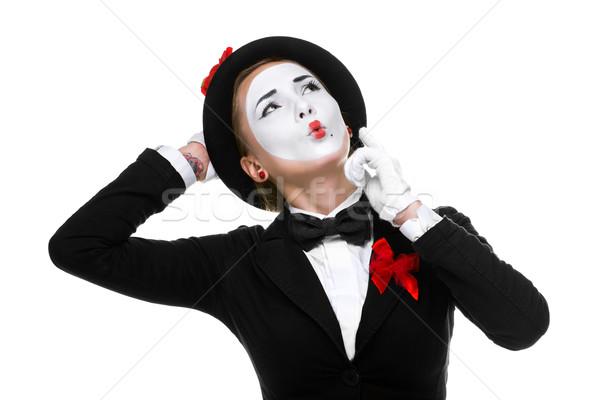 портрет удивленный радостный женщину изолированный Сток-фото © master1305
