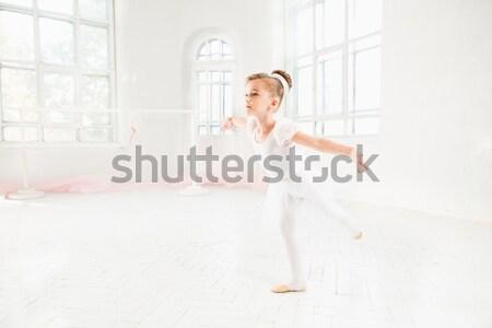 小さな 現代 バレエダンサー ポーズ 白 座って ストックフォト © master1305