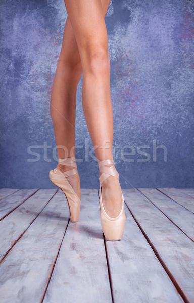 フィート 小さな バレリーナ 靴 クローズアップ ストックフォト © master1305