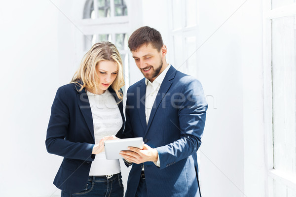 Male and female office workers. Stock photo © master1305