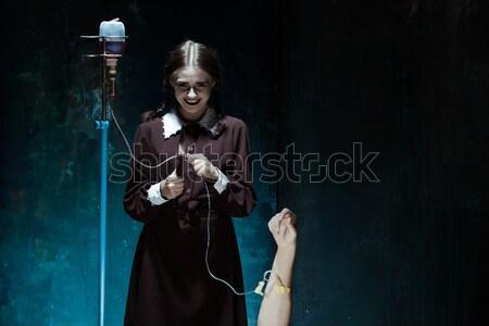 Portre genç kız katil kadın Stok fotoğraf © master1305