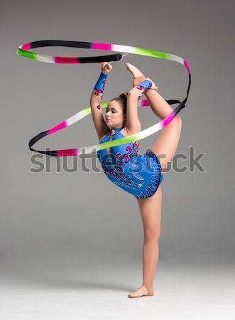 代 体操 ダンス リボン グレー ストックフォト © master1305