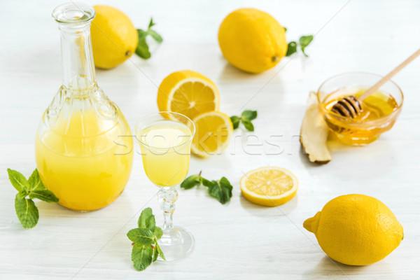 Italiano tradicional licor limón alimentos frutas Foto stock © master1305