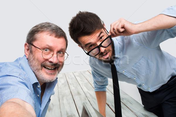 два коллеги фотография сидят служба Сток-фото © master1305