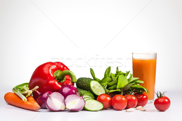 Vegetables on the white background Stock photo © master1305