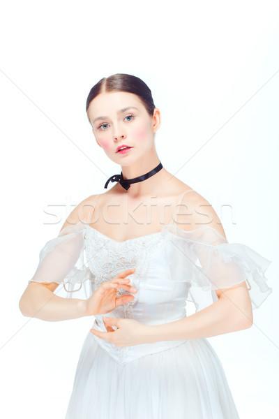 Romantikus szépség retró stílus portré nő ballerina Stock fotó © master1305