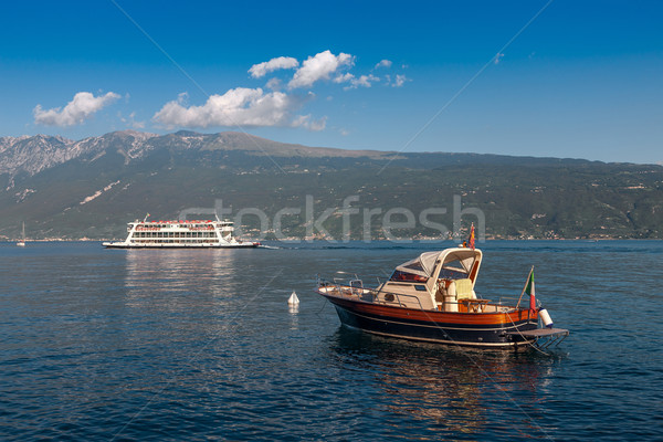 Stock photo: Lake Garda is the largest lake in Italy.
