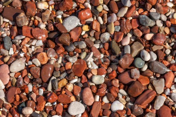 Colorato ciottolo spiaggia primo piano texture abstract Foto d'archivio © master1305