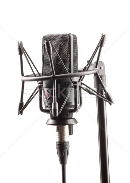 Microphone in broadcasting station Stock photo © master1305