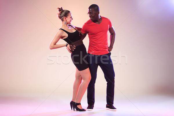 Sosyal caribbean salsa Stok fotoğraf © master1305