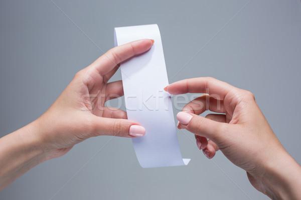 женщины рук пусто сделка бумаги проверить Сток-фото © master1305