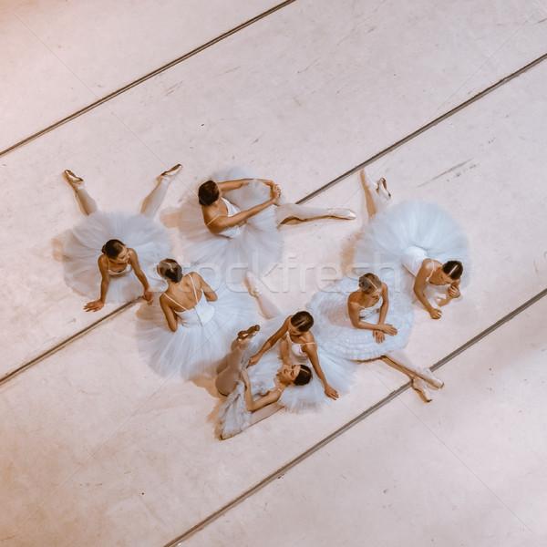 семь полу Top мнение репетиция зале Сток-фото © master1305