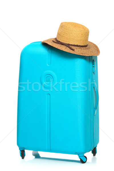 The modern large suitcase on white background Stock photo © master1305