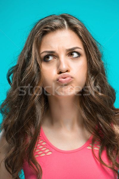 The young woman's portrait with thoughtful emotions Stock photo © master1305