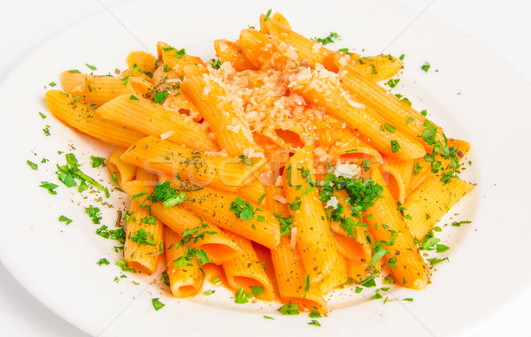 Pasta penne with tomato sauce  Stock photo © master1305