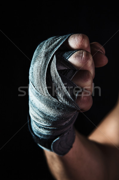 Close-up hand of muscular man with bandage Stock photo © master1305