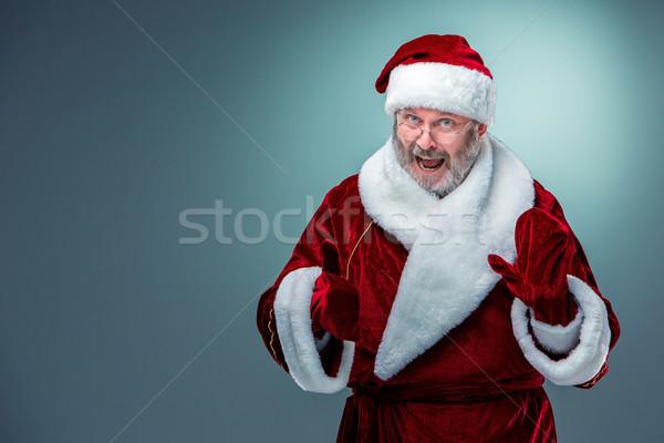 happy, smiling Santa Claus. Stock photo © master1305