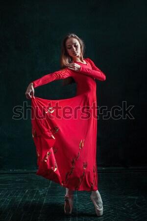 Terhes nő henna tetoválás indiai kép nő Stock fotó © master1305