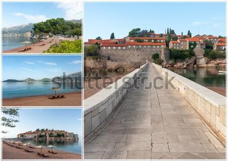 острове Черногория морем мнение воды здании Сток-фото © master1305