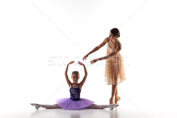 Stockfoto: Weinig · ballerina · dansen · persoonlijke · ballet · leraar
