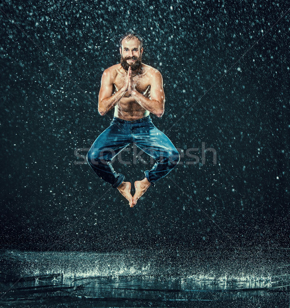 Stockfoto: Mannelijke · pauze · danser · water · donkere · sport