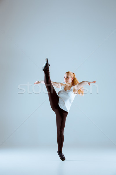 The women dancing hip hop choreography Stock photo © master1305