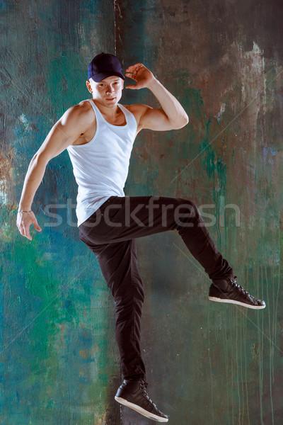 The man dancing hip hop choreography Stock photo © master1305