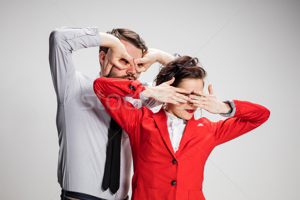 The business man and woman closing eyes Stock photo © master1305