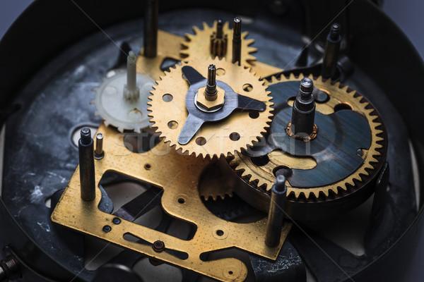 Makro görmek saat mekanizma eski çalışmak Stok fotoğraf © master1305