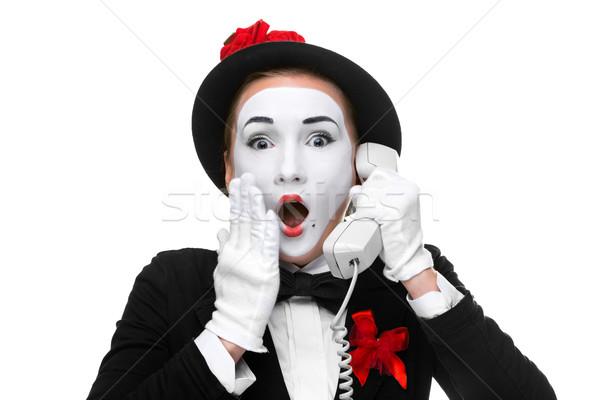 Vrouw afbeelding zakenvrouw geïsoleerd Stockfoto © master1305