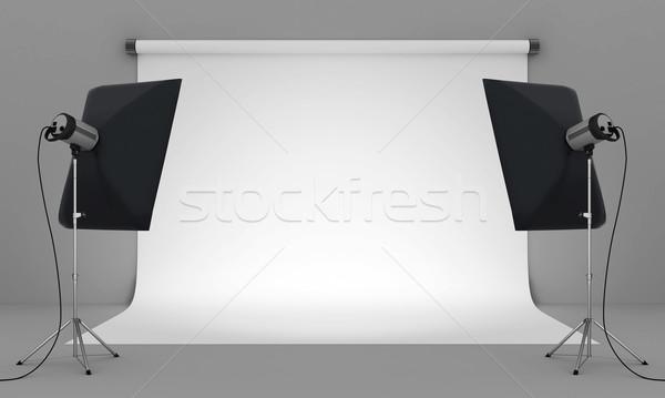 Fotografia studio pusty sprzęt oświetleniowy moda świetle Zdjęcia stock © mastergarry