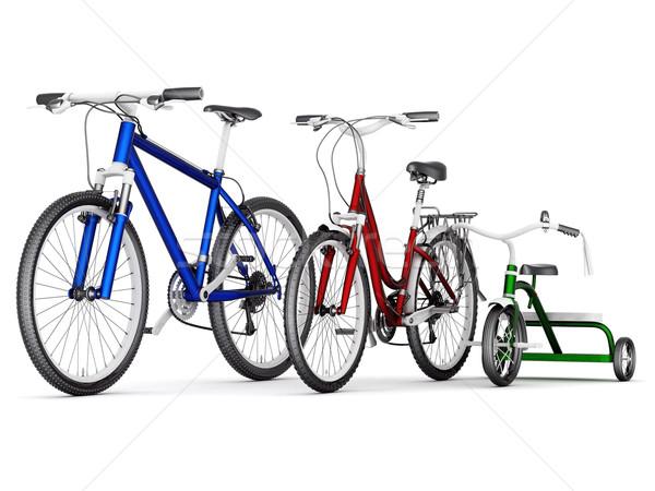 Bicicletas branco estrada esportes bicicleta verde Foto stock © mastergarry