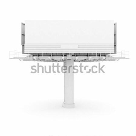Büyük ilan panosu yalıtılmış beyaz arka plan pazarlama Stok fotoğraf © mastergarry