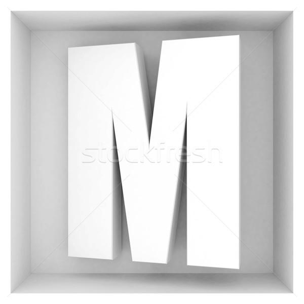 Volume lettre alphabet gris résumé design Photo stock © mastergarry