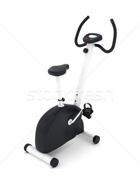 Exercer bicicleta isolado branco esportes fitness Foto stock © mastergarry