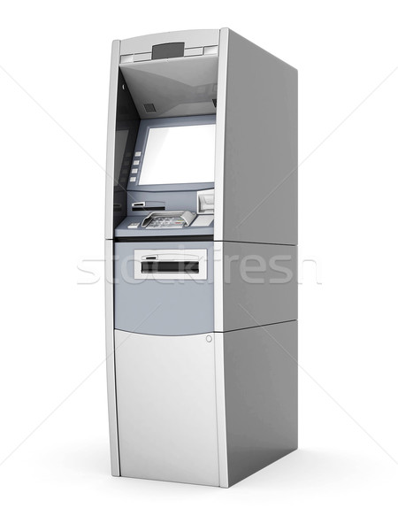 Image nouvelle atm blanche affaires clavier Photo stock © mastergarry