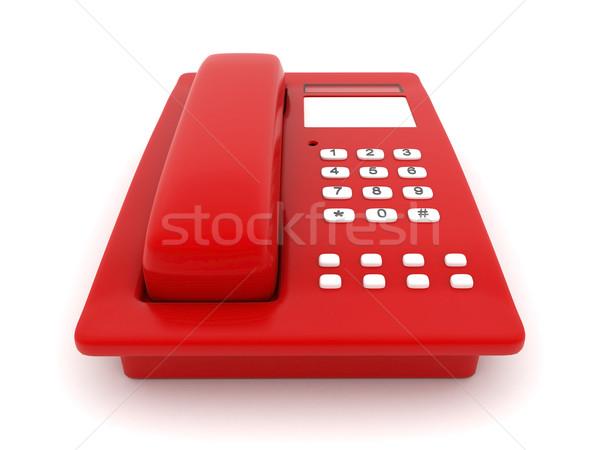 Vermelho telefone imagem belo branco escritório Foto stock © mastergarry