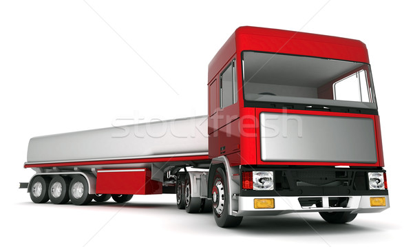 Camion fret image blanche rouge industrielle Photo stock © mastergarry