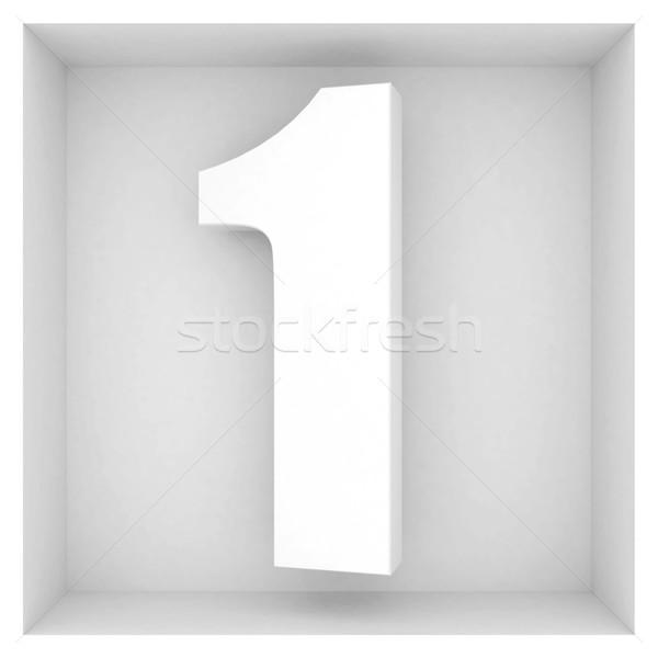 Belle volume nombre gris résumé design Photo stock © mastergarry