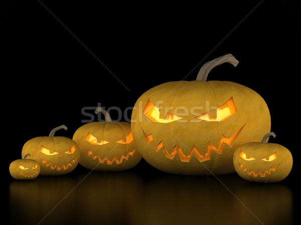 Zucca di halloween immagine sinistro zucche halloween nero Foto d'archivio © mastergarry
