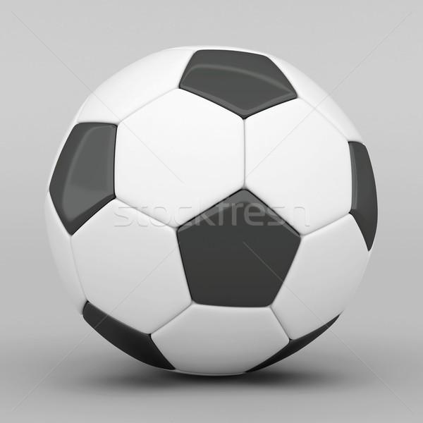 Quadro futebol cinza futebol couro branco Foto stock © mastergarry