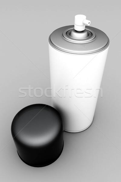 Aluminium spray afbeelding verf grijs ontwerp Stockfoto © mastergarry