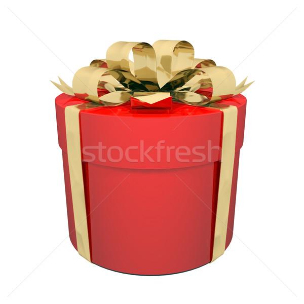 美しい ギフトボックス 弓 赤 白 ストックフォト © mastergarry