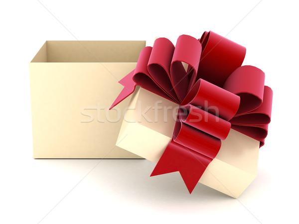 Güzel hediye sevmek kutu kırmızı sunmak Stok fotoğraf © mastergarry