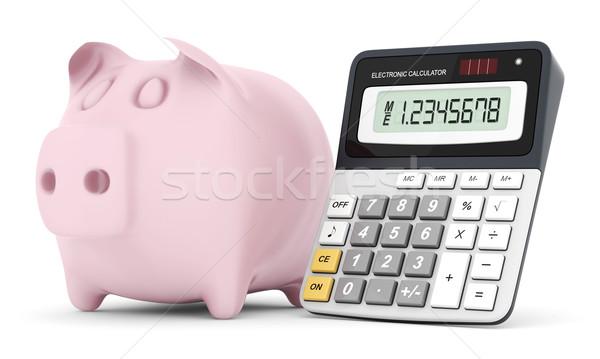 Modern office calculator Stock photo © mastergarry