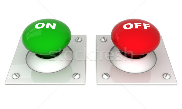 image the red button Stock photo © mastergarry