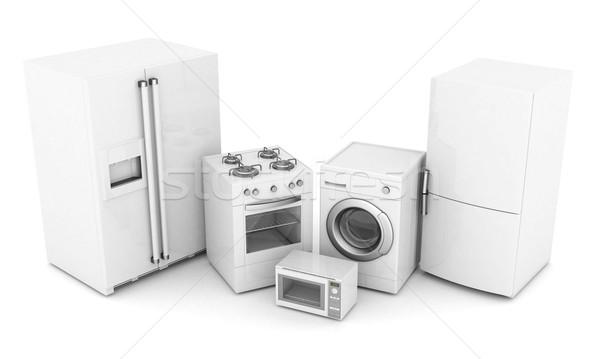 Domestique appareils photos blanche maison déjeuner Photo stock © mastergarry